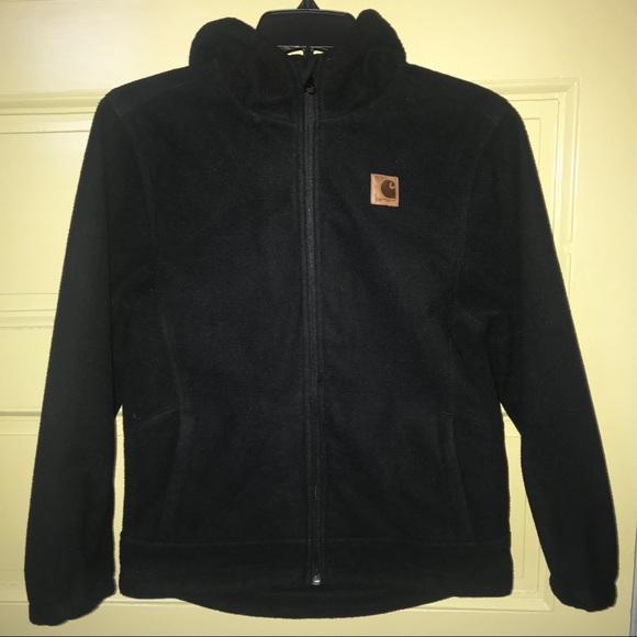 abb9f19a33fc9 Carhartt Jackets & Coats | New Black Buckfield Zip Fleece M1012 ...